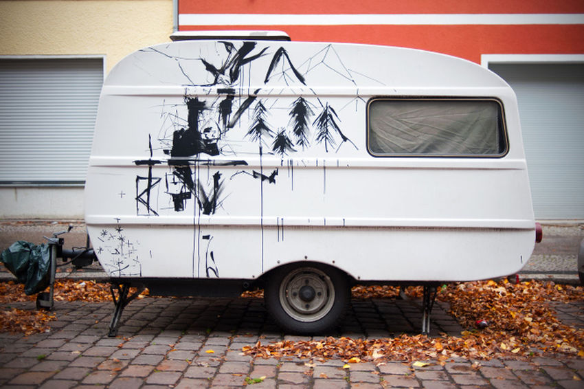 Berlin Coach Sidewalk Wohnmobil Day Land Vehicle No People Outdoors Painting Vehicle
