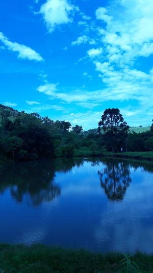 Acqua Brazil Fhish Reflection Lake Cloud - Sky Tree Water Sky Mountain Nature Blue Day
