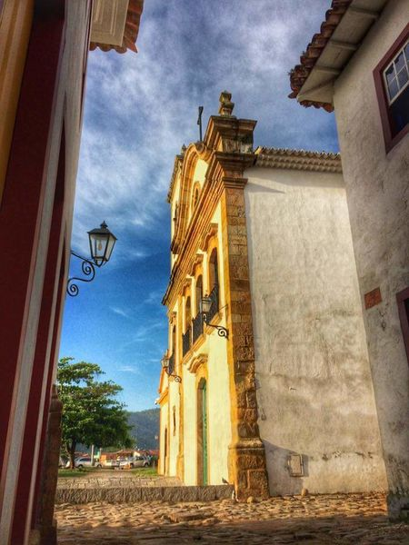 Architecture Building Exterior Built Structure Sky Low Angle View No People Outdoors Religion Place Of Worship Day Church Paraty - RJ Sky Bluesky Morning Light Morning Sky Morningpic Morningpicture MorningSunrise Morningsun ☀ Morningsun