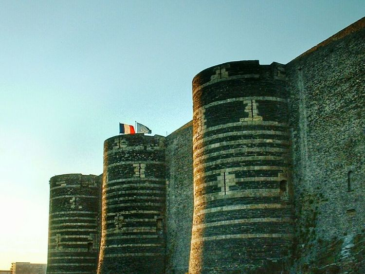 """""""Château d' Angers, bastions sud"""". Castles Chateaux Fortress Historical Monuments Angers Angioino Anjou France Towers Bastions"""