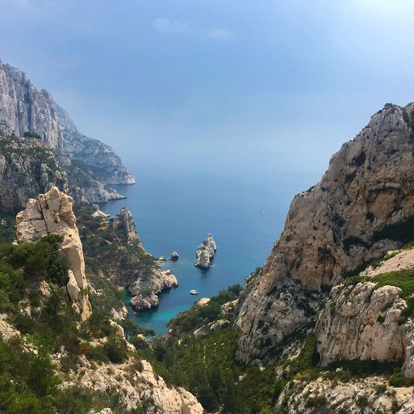 Mediterranean  Travel Destinations Travel Landscape_photography Landscape View Nature Photography Nature PACA Marseille Sugiton Water Beauty In Nature Sea Scenics - Nature Mountain Rock Tranquility Nature Tranquil Scene Rock - Object Day Sky No People Plant Tree High Angle View Land Idyllic Outdoors