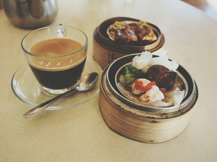 Cafe Americano Dimsum Breakfast Asianfoods