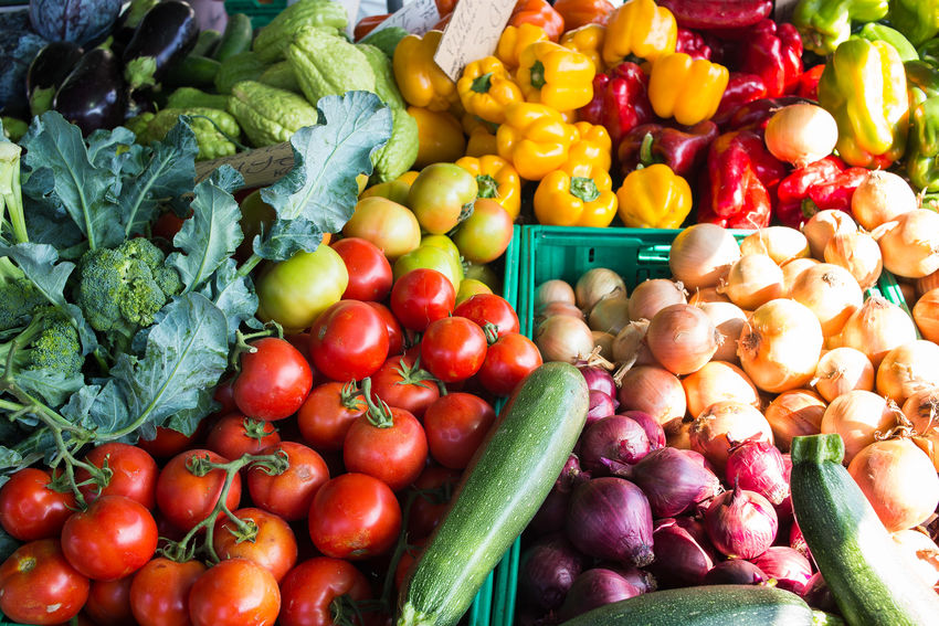 fruit & vegetables market Colors Abundance Bell Pepper Choice Colorful Day Food Food And Drink For Sale Freshness Healthy Eating Large Group Of Objects Market Market Stall No People Outdoors Raw Food Red Bell Pepper Retail  Variation Vegetable Vegetables