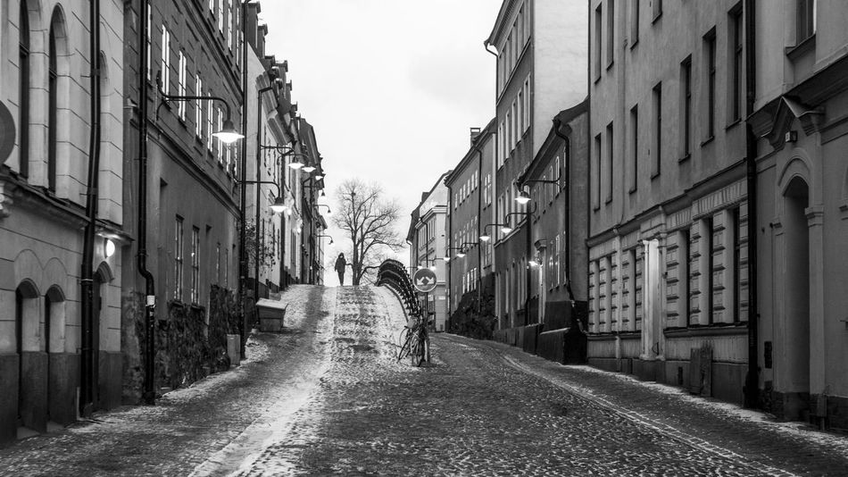 Architecture Stockholm, Sweden Södermalm Stockholm Winter City Residential Building Snow Street Streetphotography