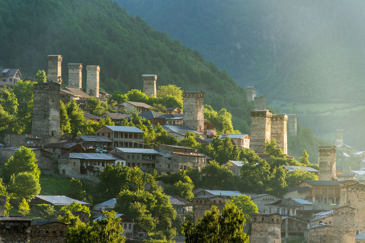 The Most Beautiful Village II Mestia Georgia Mesti The Most Beautiful Village Beautiful Village Village Mestia, Georgia 🇬🇪 Architecture Built Structure Building Exterior Tree Plant Mountain Building Nature No People History Green Color The Past Outdoors Growth City High Angle View Residential District Beauty In Nature Travel Destinations Day