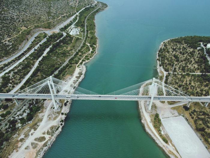 Chalkida bridge, evia, greece