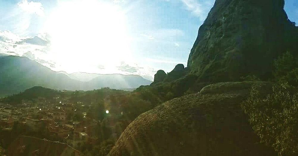 EyeEm Nature Lover Taking Photos Sunshine Sky And Clouds Huge Rocks Meteora Kalampáka