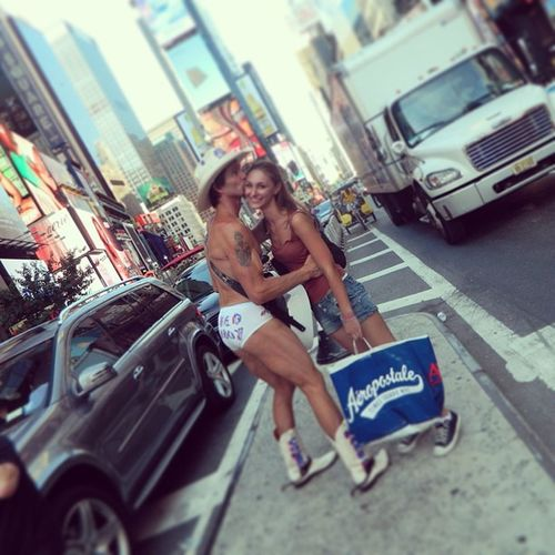 NYC Shopping Kiss Aereopostale cowboyhappysummer