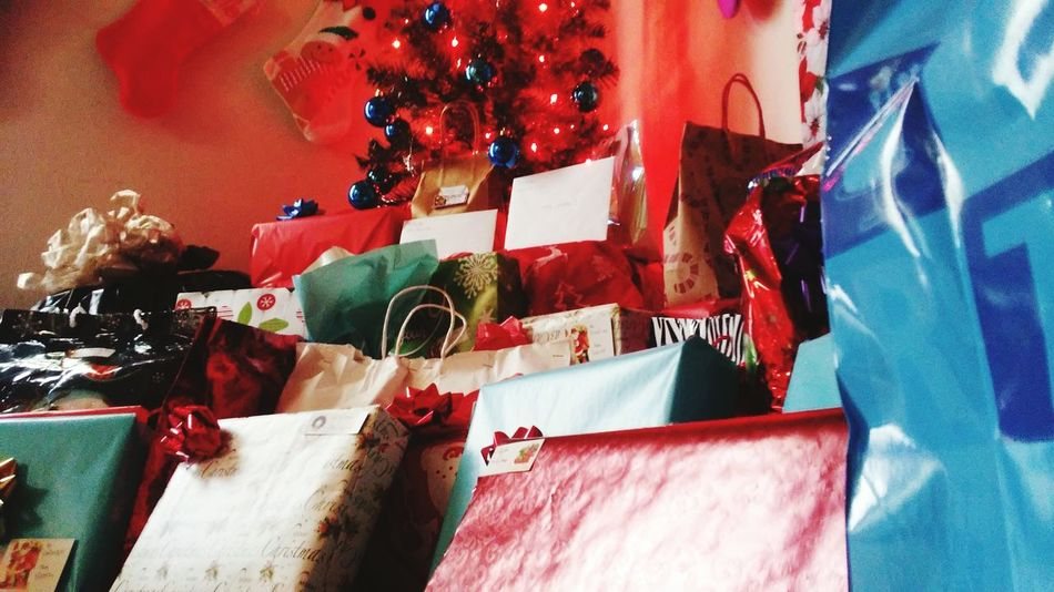 Christmas Christmas Decoration Christmas Lights christmas tree Presents Presents Under Tree Presents B4 Christmas Christmastime Christmas Present Christmas Eve Close-up Colorful Display Various Variety