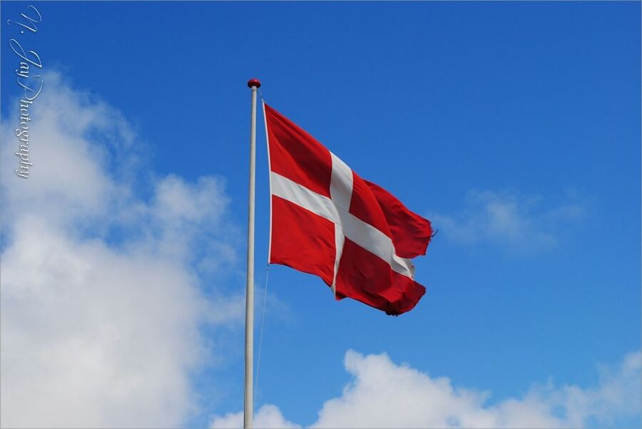 Hoist the colours ;-) Denmark Flag Dannebrog Sky Red White And Blue Flaghoisting Colors Eye4photography  Blue Sky