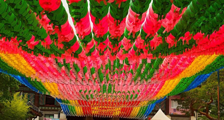 Architecture Chinese Lantern Chinese Lantern Festival Chinese New Year Cultures Day Hanging Lantern Lanterns Multi Colored No People Outdoors Temple Entrance