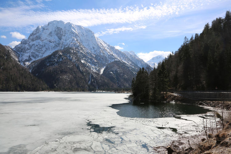 peacefully scene with lake in central Europe Cave Del Predil Ice Lago Predil Lago Del Predil Panorama Raibl Snow ❄ Tarvisio View Winter Alps Carnia Carnic Alps Italian Italy Lago Mouintains Mountain Mountain Range Outdoor Prealps Predil Rabil Relax Uncontaminated Nature