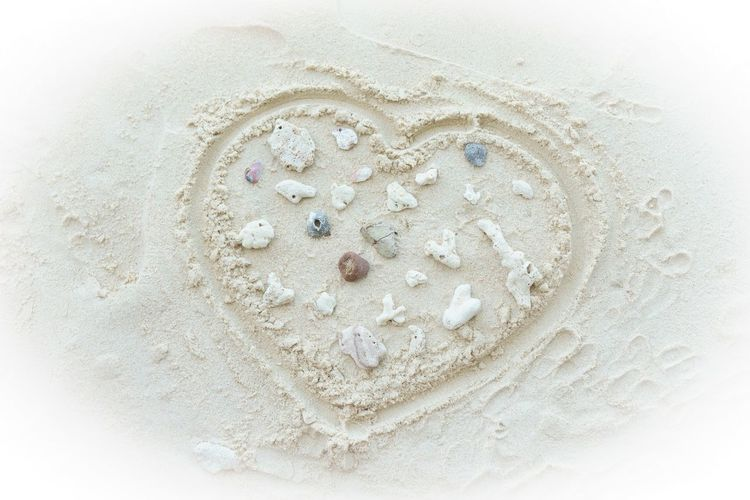 Love Thailand Travel Beach Coral Heart No People Sand Tourism White Sand