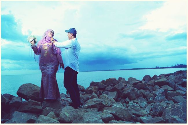 EyeEm Selects #sonya77 Oiphotography #Malay Two People Heterosexual Couple Sea Love Togetherness Adult Adults Only Women Water Outdoors Standing Bonding Couple - Relationship