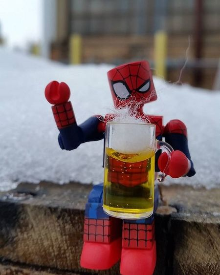 Drinking a cold one on a cold one just help you acclimate better. Happy Friday! Fwebruary Realworldtoys