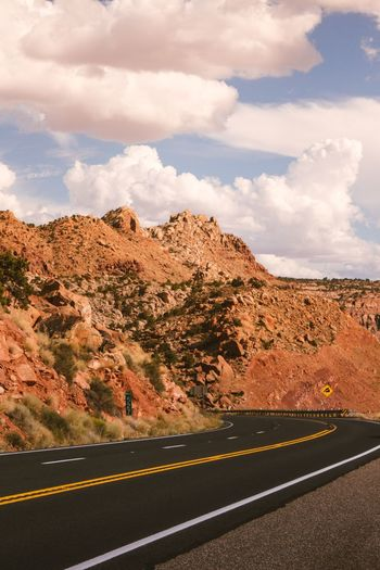 Sedona, Az. Classic scenery. Open Road Beauty In Nature Classic Streetphotography Rocky Mountains Sedona Road Sky Cloud - Sky Road Marking Marking Transportation Symbol Mountain No People Double Yellow Line Dividing Line Environment Empty Road Scenics - Nature Beauty In Nature The Way Forward