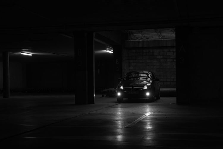 Opel Architectural Column Architecture Astra B&w Built Structure Car Illuminated Indoors  Indystry 18 Floor Land Vehicle Mode Of Transport Night No People Opel Astra Parking Garage Transportation The Week On EyeEm