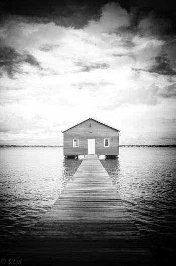 Fujifilm X100 Crawleyedge boathouse Black & White