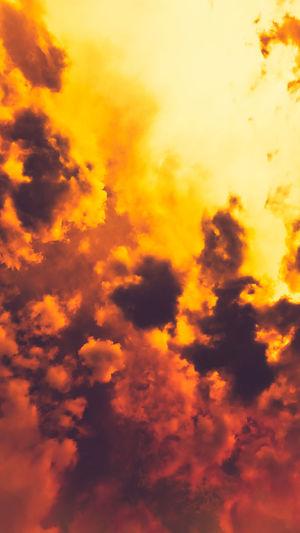 Low angle view of orange sky