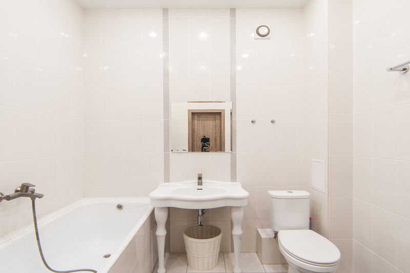View of white bathroom