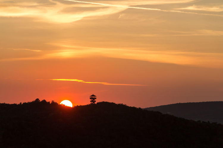 Beauty In Nature Day Landscape Nature Orange Color Silhouette Sunset