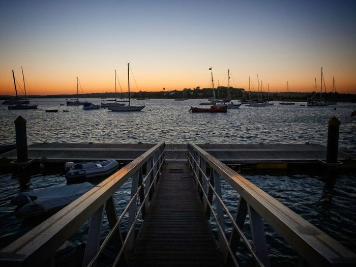 Sunset Jetty Leading Lines Sea Sky Port D'Alcúdia Travel Summer Golden Hour Harbour Boats EyeEmBestPics Nikon D7000 Nikon