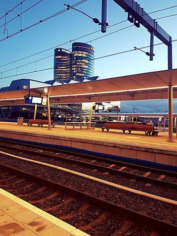 Railroad Station Platform Railroad Station No People Utrecht Centraal