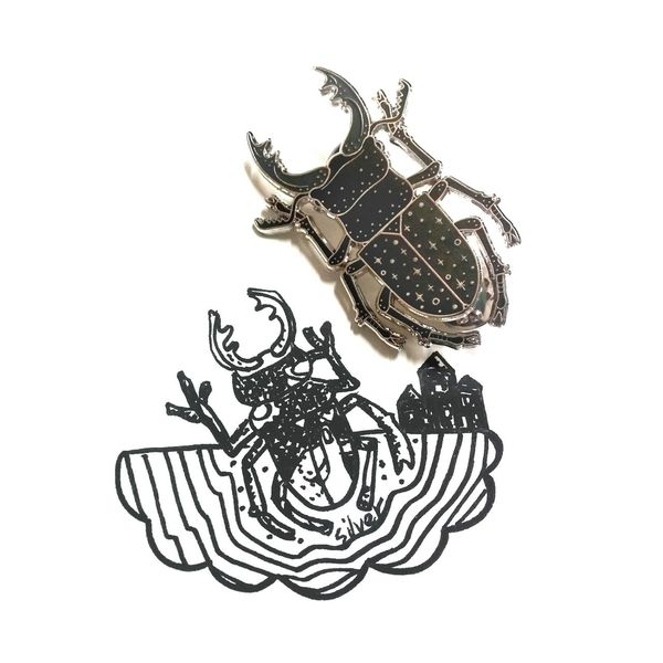 Finally got it!!✨❤Art Art, Drawing, Creativity Artist Doodles Doodle Doodler Sketch Sketches Sketchy Beetle Beetles Insects  Insect Beautiful Collection Unique Badge Badges Love Favourite Cool Drawing Drawingtime Brooches Brooch