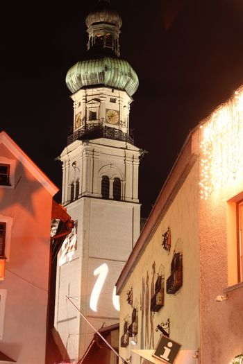 Architecture Austria Building Building Exterior Built Structure Electric Lamp Exterior Façade Hall Hall In Tirol Historic Illuminated Lighting Equipment Low Angle View No People Outdoors Residential Building Sky Tirol