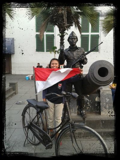 when i was in Museum Jakarta Kota Museum Fatahillah Flag That's Me