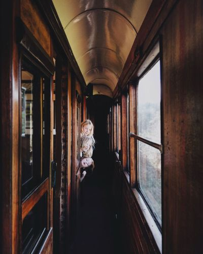 Train adventure Childhood Children Adventure Train Interior Train EyeEm Selects Real People Window Full Length Looking Through Window Go Higher