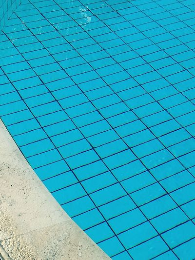 Full Frame Day No People Blue Water Close-up Wasser Poolside Pool Low Angle View Pattern