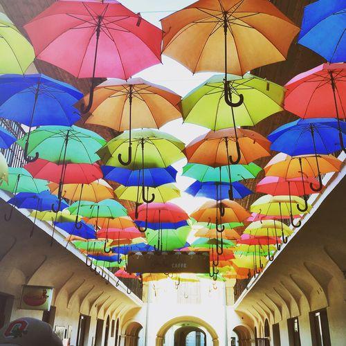 Showcase April Košice Slovakia Umbrellas Colors Creative Canopy Umbrella Ceiling Fun