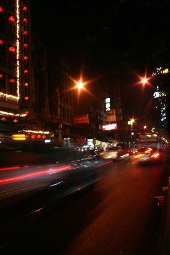 Traffic Light  Traffic Bankgkok Thailand Street Night Street Light And Shadow Road Lamp Light Vehicle Light Tail Light