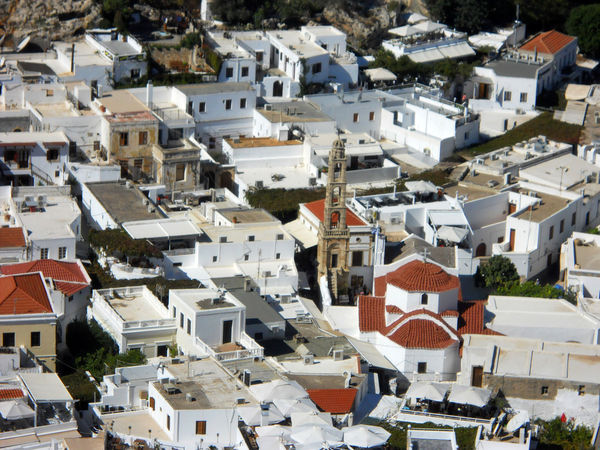 Greek Islands Rhodes Rhodes, Greece Acropolis Acropolis, Lindos Architecture Building Building Exterior Built Structure City Community Crowd Crowded Day Environment Full Frame Greece High Angle View House Lindos Lindos Greece Nature Outdoors Residential District Roof Sunlight Town TOWNSCAPE