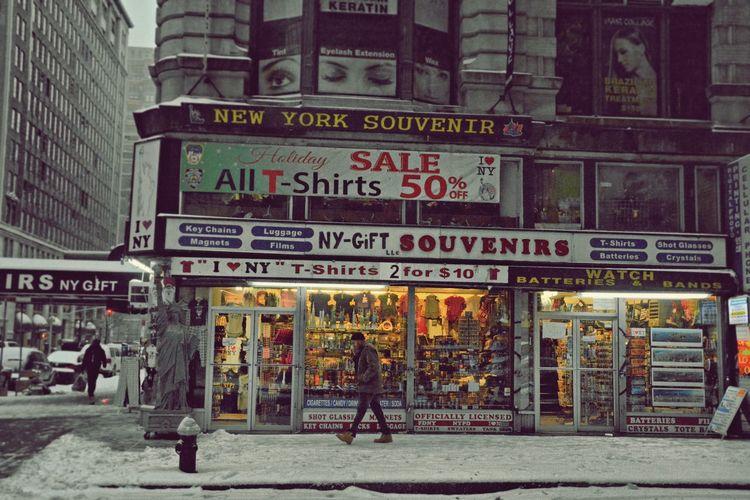 OpenEdit Blackandwhite Travel Photography Nikon Travel Destinations New York City USA New York Streetphotography Walking Winter Snow Street An Eye For Travel City One Person