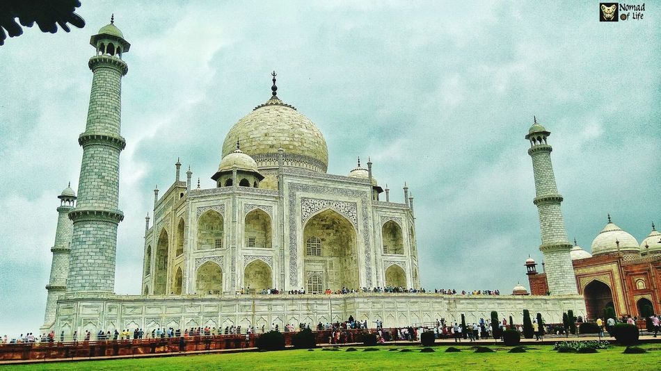 The Taj Mahal 🇮🇳 Architecture Travel Destinations Built Structure Religion Outdoors History Spirituality Day Building Exterior Place Of Worship Sky Dome Low Angle View Water No People Travelgrams Beauty In Nature One Man Only Traveldiary2017 Architecture Nomad EyeEm Taj Mahal, Agra Photography Eyeemphotography Wanderlust