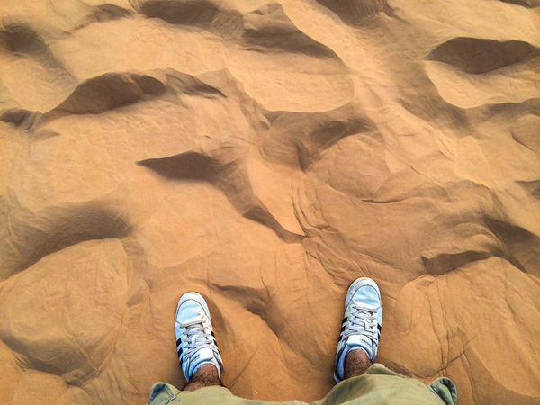 Two Is Better Than One Africa Africa Beauty Africa Scenery Casual Clothing Desert Feetselfie Footwear Human Foot Lifestyles Low Section Mauritanie Outdoors Person Rock - Object Sahara Desert Sahara Sand Sand Sand Dunes Step By Step Tranquility Unrecognizable Person Lost In The Landscape Be Brave