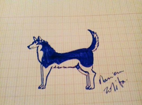 Drawing DrawSomething Husky Dogs Dogs Dogs Love Art Eyeem Tunisia Pets Fast Simple