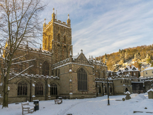 Scenes from Malvern after the early December 2017 snowfall. Britain Malvern Hills Snow ❄ Wintertime Architecture Bare Tree Building Exterior Built Structure City Cold Temperature Day History Nature No People Outdoors Place Of Worship Religion Sky Snow Snowfall Spirituality Travel Destinations Tree Uk Weather Winter Worcestershire
