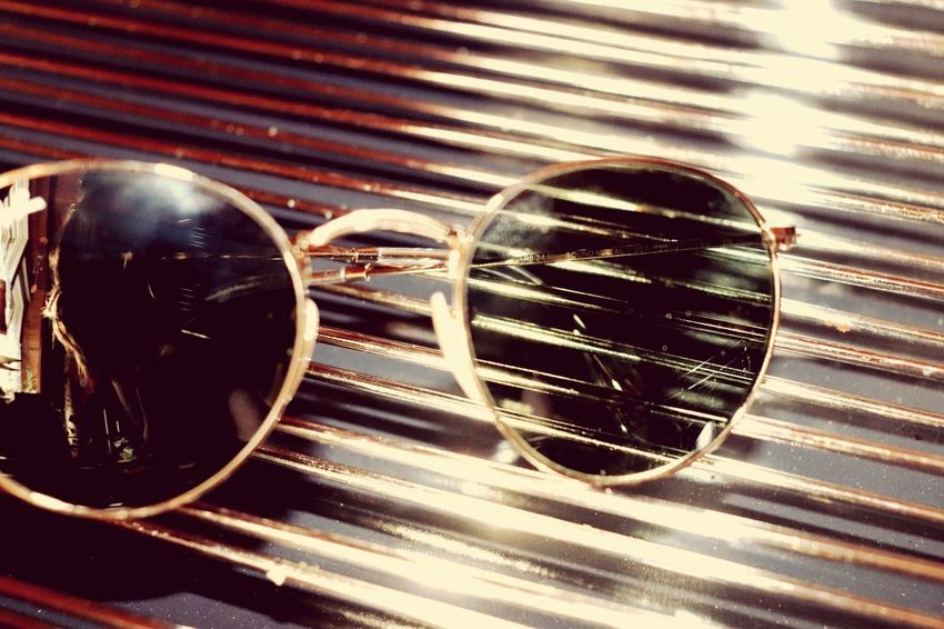 Close-up No People Still Life Glasses Indoors  Table Pattern Single Object Sunglasses Reflection Sunlight Detail