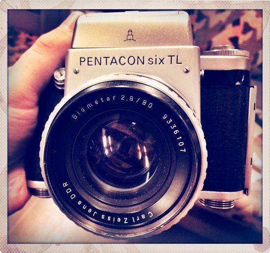 Pentacon Six Analogue Photography Vintage Camera Taking Photos