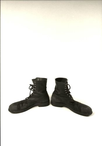 Big Shoes Two Directions Done Walking End Of The Road Black On White Record Simetry