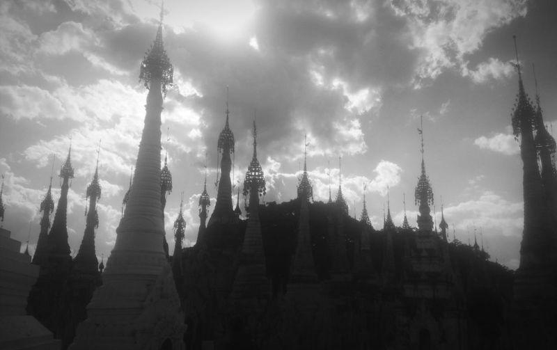 Hello World ✌ Pagoda 😀 Black & White Light And Shadows Respectful