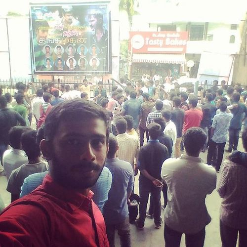 Wow Its Awesome in here.... MOVIE Thangamagan Firstshow