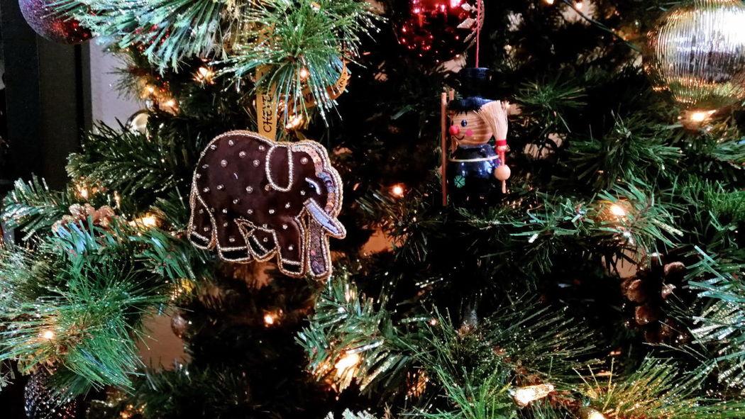 Christmas Decoration Christmas Ornament Tree Christmas Tree Elephant Elephant Ornament ChimneySweep Chimney Sweep Ornament Christmas Lights