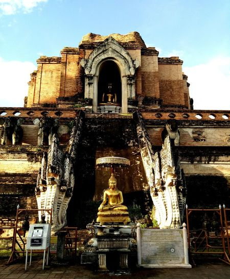 #chiangmai Place Of Worship Sculpture Spirituality Religion Statue Sky Architecture Building Exterior Built Structure Buddha