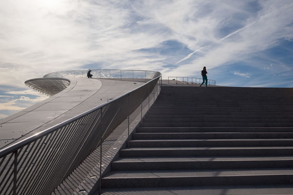 Amanda Levete Architecture Architecture_collection Cloud Cloud - Sky Lisbon Low Angle View Maat Museum Museum Of Art Architecture And Technology Outdoors Portugal Steps