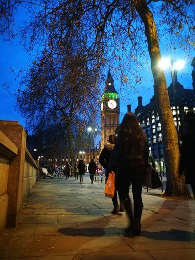 London Night People Outdoors