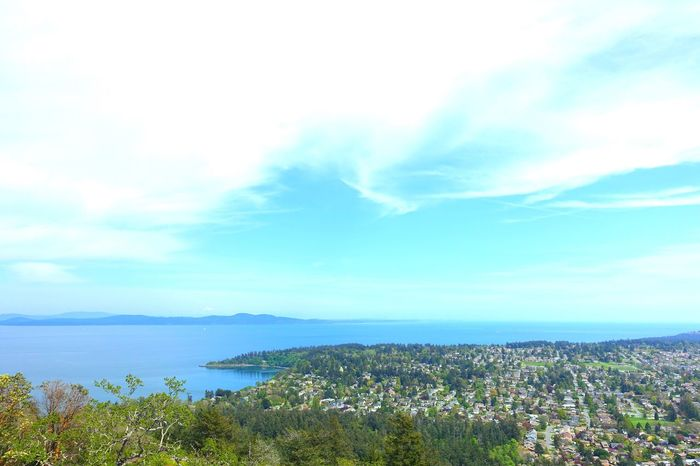 part of Victoria Mount Douglas Vancouver Island Canada Spring Travel Exploring Hiking Sunny Day Freshness From The Mountain Landscape Sea Sky